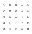 most used webdesign icons ui set vector image vector image