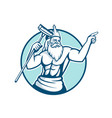 neptune holding pool scrub mascot vector image