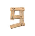 number 9 wood board font nine symbol plank and vector image vector image