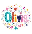 Olivia female name decorative lettering type vector image vector image