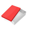 open box white packaging with red lid vector image vector image