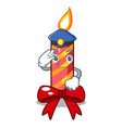 police character christmas decoration with vector image vector image