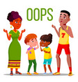 problem reaction oops word concept banner vector image