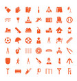professional icons vector image vector image