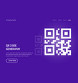 qr code generate web template sample for vector image
