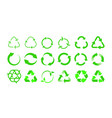 recycling icons bio reuse package label templates vector image vector image