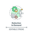 reduction in demand concept icon vector image