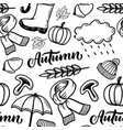 seamless pattern hand drawn vector image vector image