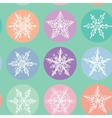 Seamless pattern Merry Christmas Card Snowflake vector image vector image