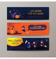 set happy halloween banners background vector image
