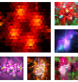 Set of abstract geometric backgrouns vector image vector image