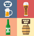 Set of beer icon with word drink me now vector image vector image