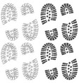 set of drawings with footprints of shoes vector image vector image