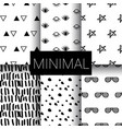 set of minimal seamless patterns vector image vector image