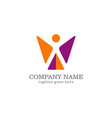 shape abstract success company logo vector image vector image