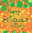 St Patric day pattern with green clover leafs vector image vector image