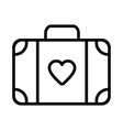 suitcase icon on white background vector image