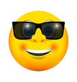sunglasses smiling emoji icon vector image
