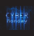 techno modern cyber monday background vector image vector image