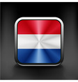 The Netherlands flag in the form of a glossy icon