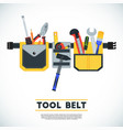 tool belt poster conceptual image of tools for vector image