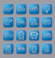 transport glossy icons vector image vector image