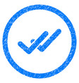 validation rounded grainy icon vector image vector image