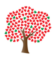 vector love tree vector image vector image