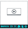 Video player for web icon flat vector image vector image