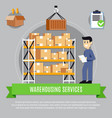 warehouse services composition vector image vector image