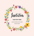 wedding invitation greeting card circle vector image vector image