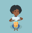 young african woman playing the ethnic drum vector image vector image