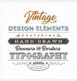 vintage label sign on fabric texture vector image