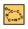 chemical formula vector image
