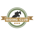 Riding Club vector image