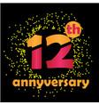 12 year anniversary template design