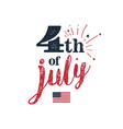 4th of july usa independence day of july vector image