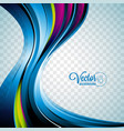 abstract wave design on transparent background vector image vector image
