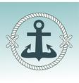 Anchor nautical symbol badge vector image vector image