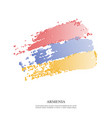 armenia flag with halftone effect vector image vector image