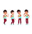 asian boy schoolboy set primary school vector image vector image