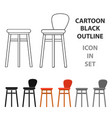 bar stool icon in cartoon style isolated on white vector image vector image