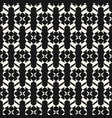 black and white curved geometric seamless pattern vector image vector image