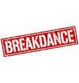 breakdance square grunge stamp