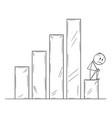 cartoon depressed or sad man or businessman vector image
