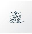 christmas tree icon line symbol premium quality vector image vector image