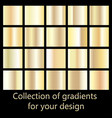 collection of golden gradient backgrounds set of vector image