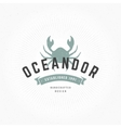Crab Hand Drawn Design Element in Vintage Style vector image vector image