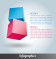 Cube infographics vector image vector image