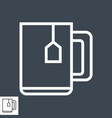 cup tea thin line icon vector image
